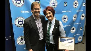 MCTS Driver Irena Ivic Honored for Rescuing Baby from Freeway Overpass
