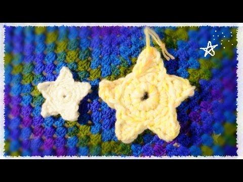 星のエコタワシの編み方・作り方【かぎ編み】七夕飾りにも☆ diy crochet star acrylic sponge tutorial