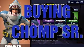 Fortnite buying New CHOMP SR. Skin + return of the CHOMP JR.