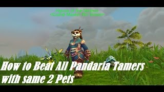 How To Beat All Pandaria Tamers With Same 2 Pets