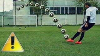 Cristiano Ronaldo Dip Tutorial Schusstechnik | How To Shoot A Topspin | Deutsch