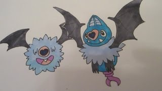 How to draw Pokemon: No.527 Woobat, No.528 Swoobat