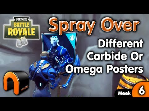 FORTNITE Spray Over Different Carbide Or Omega Posters - WEEK 6 Battle Pass Challenge.