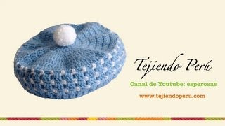 Repeat youtube video Boina en crochet para bebé