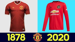 ⚽ The Evolution of Manchester United Football Kits | All Manchester United Football Kits in History
