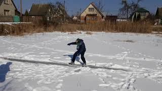 Зимнее катание на озере