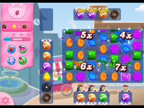 Candy Crush Saga Level 2972 with no boosters!