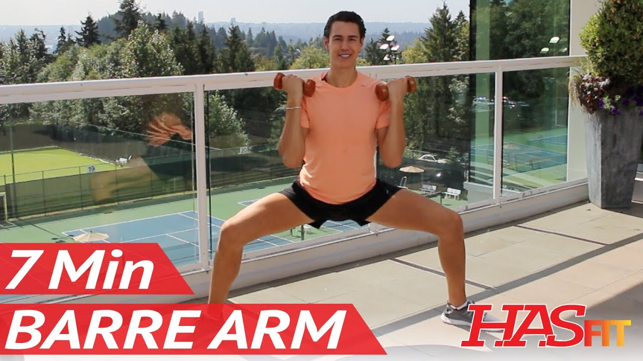 7 Min Toning Barre Arm Workout at Home w/ Beauty and The Fit - Pure Barre Method Workout for Arms