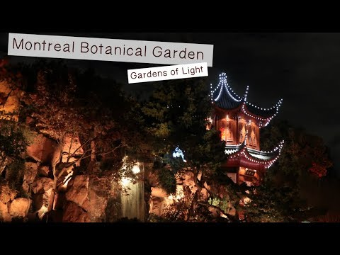 TRAVEL MONTREAL- BOTANICAL GARDENS - GARDENS OF LIGHT