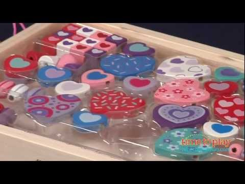d6fe379aab02 Sweet Hearts Wooden Bead Set from Melissa & Doug - YouTube