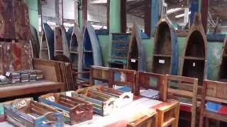 Recycled Boat Wood Furniture, Oct 2015