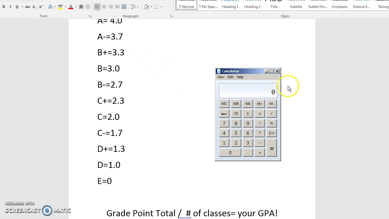 How to calculate gpa for college - Gpa Calculation