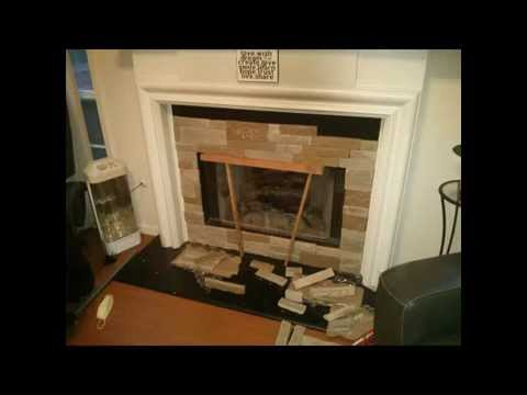 DIY airstone fireplace purchased from Lowes - YouTube