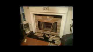 Diy Airstone Fireplace Purchased From Lowes