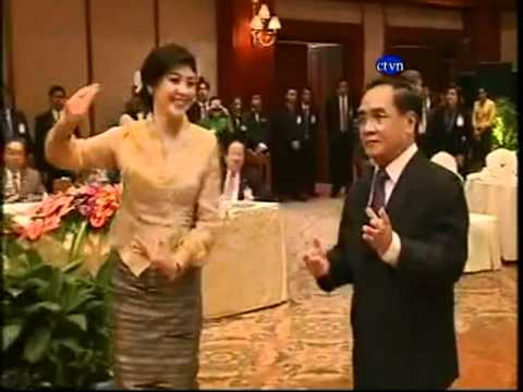 Thai Cambodia Khmer News The Prime Minister of Thailand and the Prime Minister of Laos Dance Music