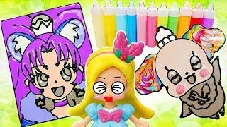 オーロラペコリン & キュアジェラート が キュアマカロン に!? ぺたぺたやき をつくったよ  おもちゃ アニメ 人形 幼児 Precure Toy