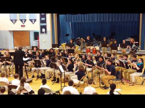 "2017 Tates Creek Middle School Eighth Grade Middle School Band ""Triton Fanfare"""