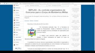 SEPLAG - AL contrata organizadora de Concurso para o Corpo de Bombeiros Militar