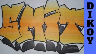 GRAFFITI SMIT - Name Swap Sketch Speed Drawing DIKOY [6]