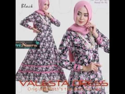 Valesta Dress Ori Naura - Jual Hijab Gamis Syari Baju Muslim