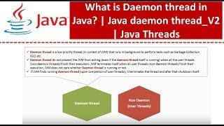 What is Daemon thread in Java Java daemon thread V2 Java Threads