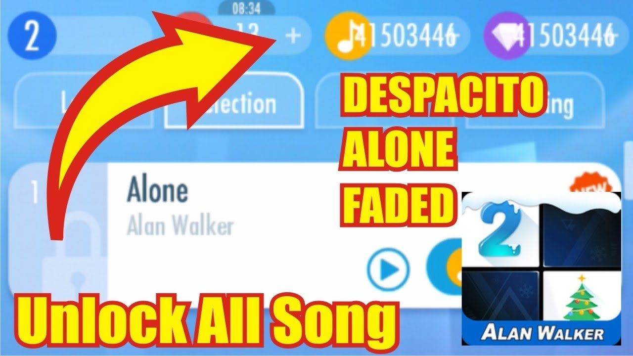 Piano Tiles 2 Mod Apk 2019 Unlimited Unlocked Everything (Faded, Alone ETC)