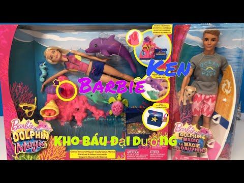 MỞ HỘP 2 BỘ ĐỒ CHƠI BARBIE & KEN DOLPHIN MAGIC KHO BÁU DƯỚI ĐÁY ĐẠI DƯƠNG/UnboxBarbie Dolphin Magic