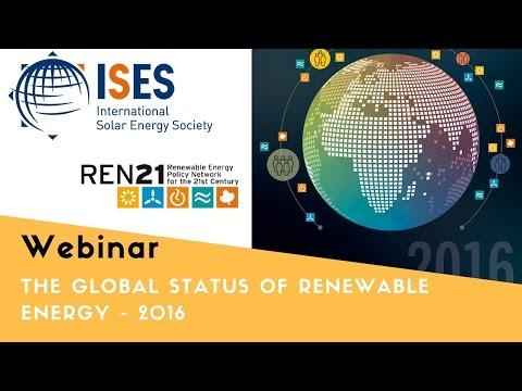 Webinar: The Global Status of Renewable Energy