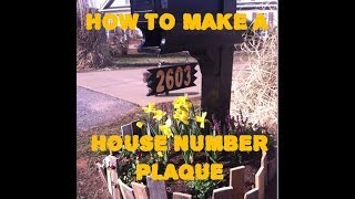 How To Carve A House Number Plaque