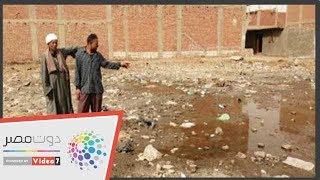 أبو صير ببنى سويف تعانى من اختاط مياه الصرف والشرب