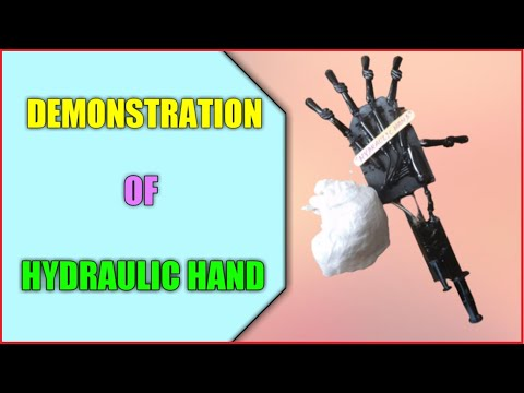 Hydraulic Hand For Exhibition - YouTube