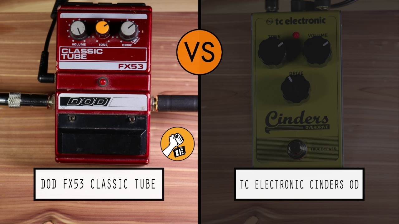 dod fx53 classic tube vs tc electronic cinders od youtube. Black Bedroom Furniture Sets. Home Design Ideas
