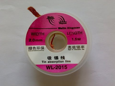 Оплетка для удаления припоя / WLXY WL-2015 Tin Absorption Band - Line Width 2.0mm from GearBest.com