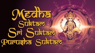 Top 3 Sacred Chants Powerful Mantra - Medha Suktam -  Sri Suktam - Purusha Suktam - by Uma Mohan