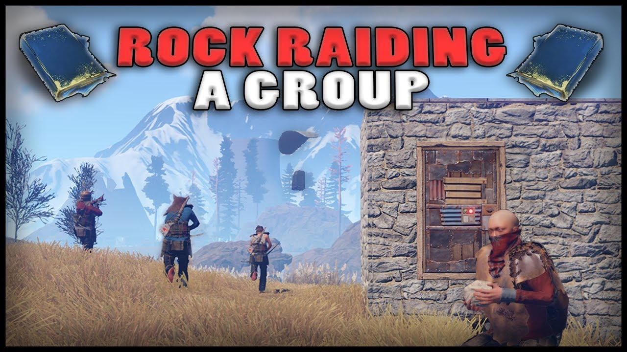 Rock raiding a group rust blueprints 2 youtube rock raiding a group rust blueprints 2 malvernweather Image collections