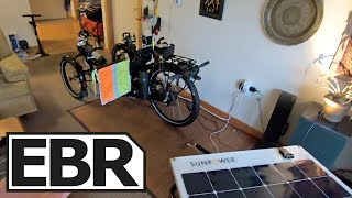 Amazing Recumbent Electric Trike with Solar Trailer