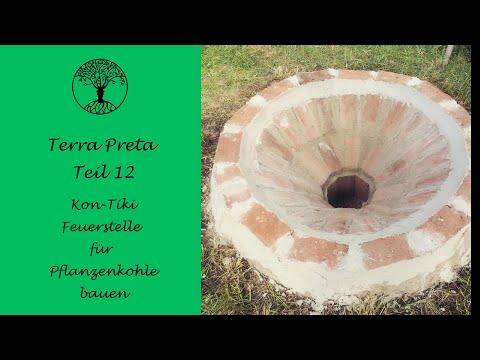 Terra Preta Teil 12 - Kon-Tiki Feuerstelle für Pflanzenkohle bauen