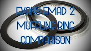 Evans EMAD 2 Muffling Ring Comparison