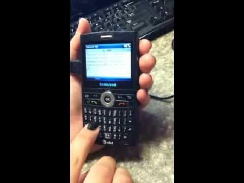 How to Unlock an AT&T locked Samsung SGH-i607 Blackjack www.UnlockToTalk.com