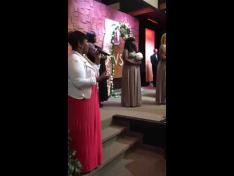 Singing I belong to you at the wedding