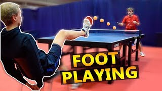 Play Ping Pong with your FOOT I Pongfinity