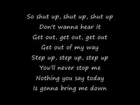 Simple Plan Shut Up lyrics