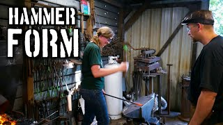 Learning Blacksmith Hammer Technique {Forging with Jess}