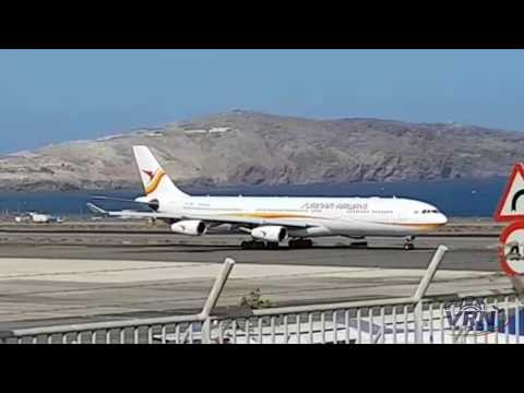 A340 Surinam Airways at Gran Canaria Airport