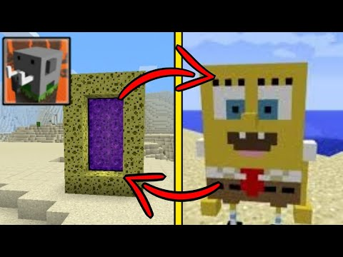 How To Make A Portal To The Nether And To The SpongeBob SquarePants In Craftsman: Building Craft