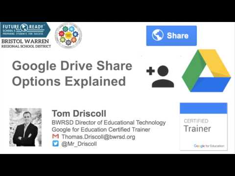 Google Drive Share Options Explained