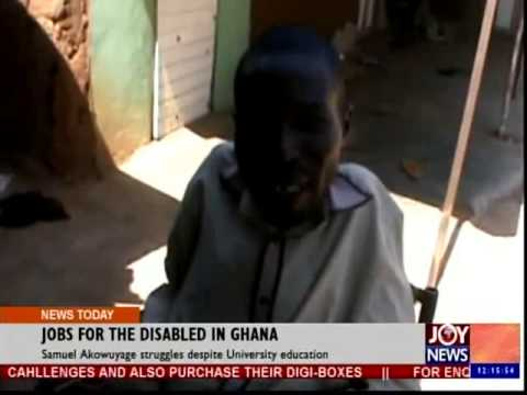 Jobs for the Disable in Ghana - Joy News Today (10-12-14)