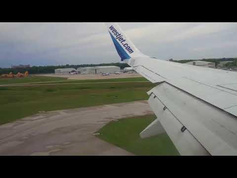 WESTJET 737 LANDING in WINNIPEG AIRPORT YWG