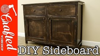 Build Article: https://craftedworkshop.com/build-diy-sideboard-buffet-cabinet/ In this video, I