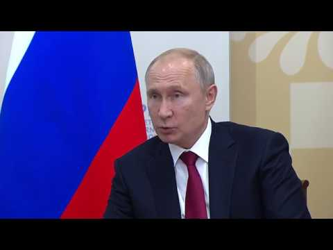 UN Chief meets with President Putin at St. Petersburg International Economic Forum